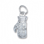 Sterling Silver Cubic Zirconia Boxing glove Pendant 3.8g